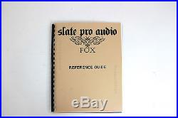 Slate Audio Fox Quad Tone Dual Microphone Preamp Mic Pre