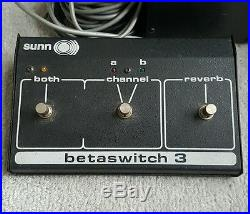 Sunn PL-20 Beta Preamplifier with Betaswitch 3 Foot Pedal, Preamp Boris Isis o