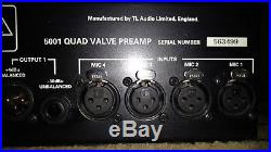 TL AUDIO 5001 4 channel tube mic preamp With Upgraded Tung Sol Tubes