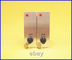 Telefunken V675 Matched Pair moded to Micpre full discrete Racking Option RARE