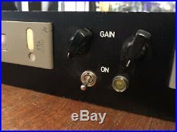Telefunken V74 Stereo Pair RARE Vintage Tube Mic/Line Preamp RACK MOUNTED