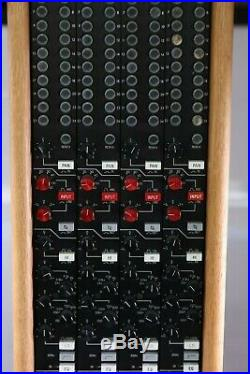 Trident 80 Series (4) 80b Input Channel Strips in Wood Case With Power Supply