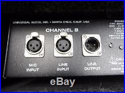 Universal Audio 2-610 Dual Channel Tube Preamplifier Preamp Mic/Instrument Pre