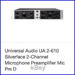 Universal Audio 2-610 Silverface 2- Channel Microphone Preamplifier Mic Pre D