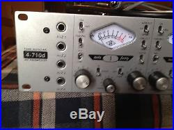 Universal Audio 4-710d 4 channel Tube / Solid State Mic Preamp 1176 Compressor