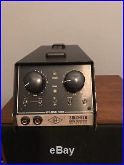 Universal Audio SOLO/610 Classic Vacuum Tube Mic Preamp and DI Box