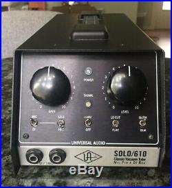 Universal Audio SOLO 610 Vacuum Tube Mic Preamp & DI Box