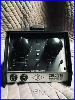 Universal Audio SOLO/610 Vacuum Tube Mic Preamp & DI Box