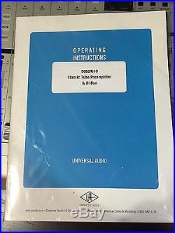 Universal Audio Solo 610 Preamp