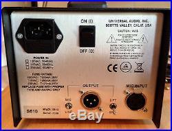 Universal Audio UA-S610 SOLO/610 Classic Vacuum Tube Mic Preamp and DI Box LN