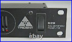 VINTAGE RARE Trident S20 Dual Mic Microphone Preamp Preamplifier