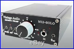 Vintage Audio M12 Solo MIC Preamp, Discrete, Cinemag Transformer In/outs