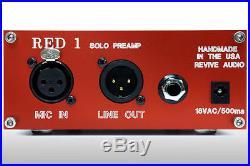 Vintage Audio Red Solo Preamp, Desktop Boutique MIC Preamp And DI