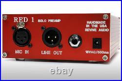 Vintage Audio Red Solo Preamp, Desktop Boutique MIC Preamp And Di! Transformer