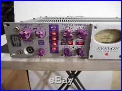 Vintage Avalon VT 737 Purple Knobs Tube Mic Preamp Channel Strip EQ Compressor