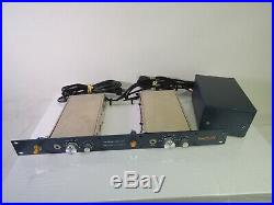 Vintage Brent Averill Stereo Mic Preamp (2-CH) PAIRED PAIR 1272 Module with PSU
