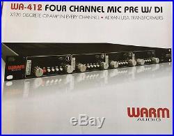 Warm Audio WA-412 4-channel Mic Preamp with DI used
