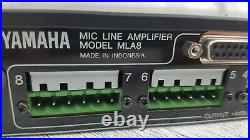 Yamaha MLA8 8-channel Preamplifier 8 XLR Inputs Output 120V Microphone Pre-Amp